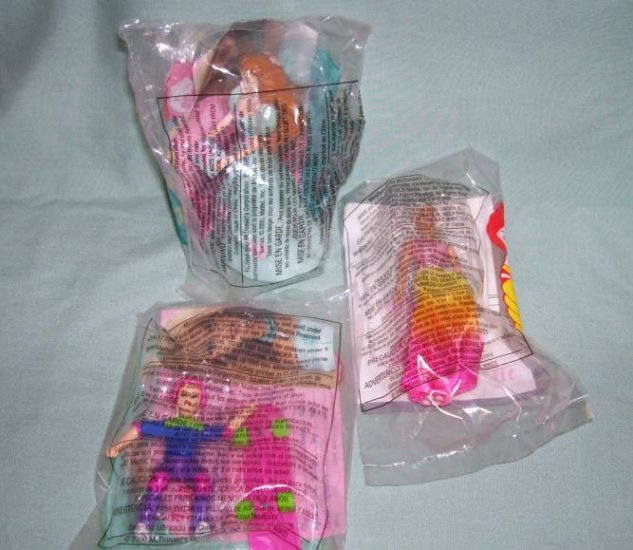 McDonalds Barbies 2000 Lot of 3  #BR0003E