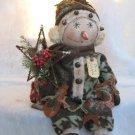 Primitive Snowman Doll w/Rustic Garland E-Pattern