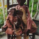 OOP Primitive Mammy 3 Dolls & Goose Pattern
