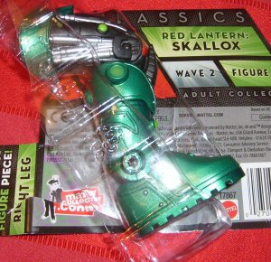 DC Universe 2011 Green Lantern STEL BAF RIGHT LEG PIECE (Nite-Lik) DCUC Skallox