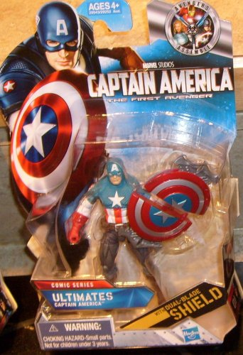 Marvel Universe 2011 ULTIMATES CAPTAIN AMERICA FIGURE 01 Movie Cap 3 3/4 Inch Avengers