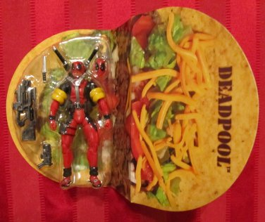 SDCC Marvel Universe 2013 VARIANT DEADPOOL FIGURE Loose 3 3/4 In Corps Set Taco