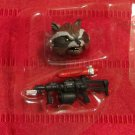 Marvel Legends 2013 ROCKET RACCOON HEAD & RIFLE PARTS (Wrecker) Loose 6 Inch BAF