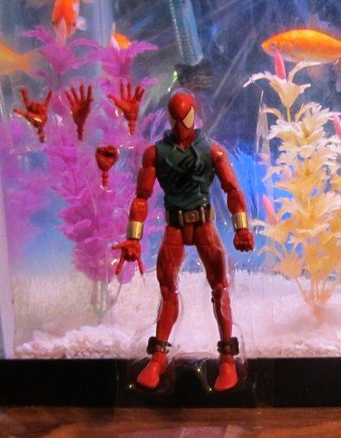 Marvel Legends 2015 SCARLET SPIDER FIGURE Loose 6 Inch Spider-man Rhino Wave