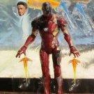 "Marvel Legends 2016 BATTLE-DAMAGED IRON MAN FIGURE Loose 6"" Civil War Mark 46"