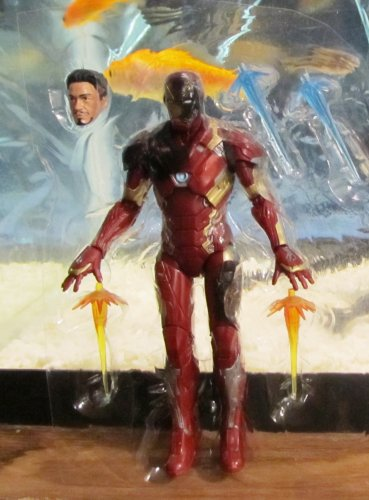 "Marvel Legends 2016 BATTLE-DAMAGED IRON MAN FIGURE Loose 6"" Civil War Mark 46"