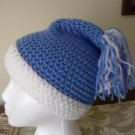 Baby Blue and White Crochet Hat