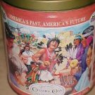 TRAILS END CARAMEL CORN COLLECTOR ADVERTISING TIN
