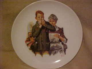 CHARMING NORMAN ROCKWELL COLLECTOR PLATE