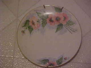 VINTAGE HAND PAINTED POPPIES PORCELAIN PLATE