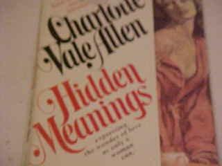 HIDDEN MEANINGS CHARLOTTE VAL ALLEN ROMANCE NOVEL