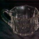 LOVELY VINTAGE CLEAR GLASS DEPRESSION ERA SUGAR BOWL