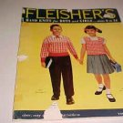 1956 FLEISHERS HAND KNITS FOR BOYS & GIRLS PATTERN BOOK