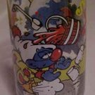 1983 SMURF  PROMO CARTOON GLASS CLUMSY SMURF