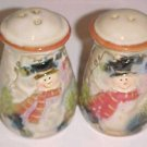 NEW CHRISTMAS SNOWMAN SNOWMEN SALT & PEPPER SHAKERS