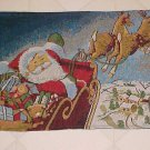 BRAND NEW SET 4 TAPESTRY SANTA IN SLEIGH PLACEMATS