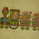 BRAND NEW CHRISTMAS SANTA CLAUS TOY TRAIN WINDOW CLINGS