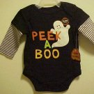 NEW UNISEX PEEK A BOO GHOST SZ 0-3 MO ROMPER CREEPER