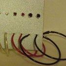 NEW 6 PR SILVER RED BLACK HOOP & POST PIERCED EARRINGS