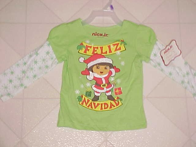 BRAND NEW 12 MO DORA THE EXPLORER CHRISTMAS T-SHIRT