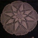 "VINTAGE NEW NEVER USED BEAUTIFUL HAND MADE INTRICATE 25"" IVORY FLOWER DOILY"