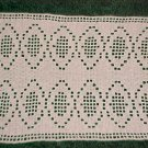 "VINTAGE NEVER USED BEAUTIFUL HAND MADE 18"" x 12"" RECTANGULAR IVORY DIAMOND DOILY"
