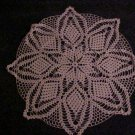 "VINTAGE NEVER USED BEAUTIFUL HAND MADE ROUND 25"" ECRU SNOWFLAKE PINEAPPLE DOILY"