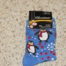 FUN BRAND NEW HOLIDAY PENGUIN DESIGN SZ 9-11 LADIES ANKLE SOCKS