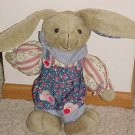 BRAND NEW PLUSH DRESSED 13 INCH BUNNY RABBIT STUFFED ANIMAL NICE EASTER GIFT