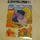 NEW COLORFUL THANKSGIVING TURKEY STATIC WINDOW CLINGS