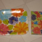 BRAND NEW COLORFUL SPRING FLOWERS PANSIES DAISIES PAPER PLATES NAPKINS PARTY SET