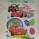 BRAND NEW DISNEY PIXAR CARS DON'T BRAKE THE EGGS EASTER STATIC WINDOW CLINGS