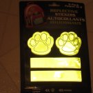 Brand New 8 pk Paws & Bars Reflective Stickers for Cars, Biks, Backpacks