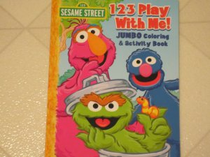 BRAND NEW Sesame Street 123 Play With Me Jumbo Coloring & Activity Book