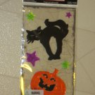 BRAND NEW Halloween Spooky Black Cat Jack-o-Lantern Gel WINDOW CLINGS