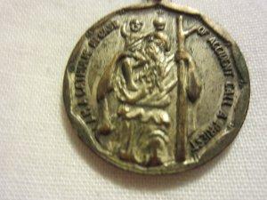 Vintage Silver Tone St. Anthony I Am A Catholic Medal Pendant Christianity