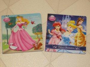 BRAND NEW Two Disney Princess Childrens Books Animal Friends & Palace Invitation