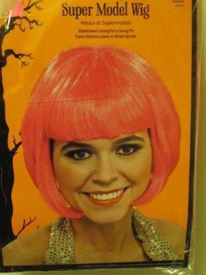 New Adult Short Pink Hair Halloween Costume Glamour Celebrity Super Model Wig