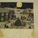 NEW CHRISTMAS VILLAGE TASSELED TAPESTRY WALL HANGING