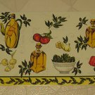 "BRAND NEW Set Four 12"" X 18""  Vinyl Olive Oil Placemats By The Home Store"