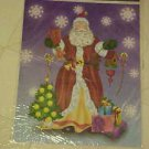 BRAND NEW LARGE COLORFUL CHRISTMAS SANTA CLAUS WINDOW CLING