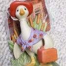BRAND NEW Hallmark Gracie the Goose Going on Vacation Porcelain Figurine