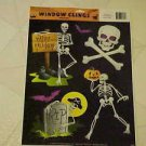 BRAND NEW SPOOKY HALLOWEEN SKELETONS SKELETON STATIC WINDOW CLINGS
