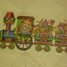 BRAND NEW CHRISTMAS SANTA CLAUS TOY TRAIN STATIC WINDOW CLINGS