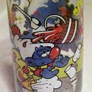Vintage 1983 Fast Food Advertising Promo Cartoon Glass Clumsy Smurf Smurfs