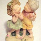 BRAND NEW Young Boy & Girl First Love Romance Romantic Hand Painted Figurine