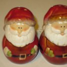 "Brand New Porcelain 3"" Tall Santa Claus Christmas Holiday Salt & Pepper Shakers"