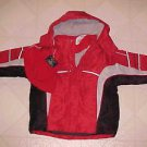 BRAND NEW FADED GLORY SIZE 18 MONTH BOYS RED WINTER JACKET HAT & MITTENS SET