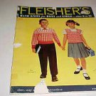 1956 Fleishers Hand Knits For Boys & Girls Pattern Catalog Magazine Book