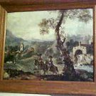 Europe European Old Country Landscape Men on Horseback Framed Art Print Painting